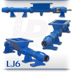 LJ6 Series Open Hopper Progressive Cavity Pump For Solids