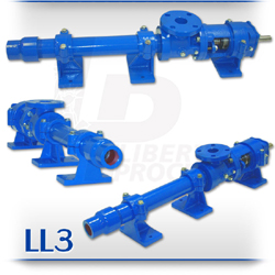 LL3 Series Adhesives and Liquids Progressive Cavity Pumps