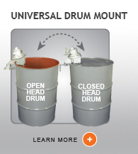 Universal Open and Closed Head Drum Mixer From Dynamix Agitators