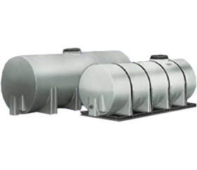 Cylindrical Horizontal Poly Storage Tanks from ACO Container Systems