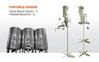 DMX Series Industrial Mixer | Clamp & Pedestal Mounted Industrial Mixers