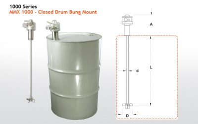 MMX 1000 Series Closed Head Drum Bung Mount Mixers From Dynamix Agitators