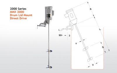 MMX 1000 Series Low RPM Open Head Drum Mixers From Dynamix Agitators